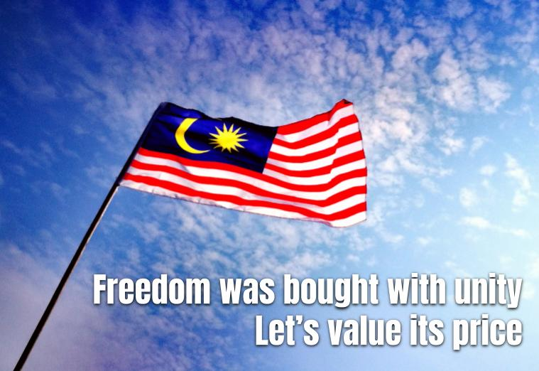 Merdeka 2020 Freedom was bought with unity, let's value its price